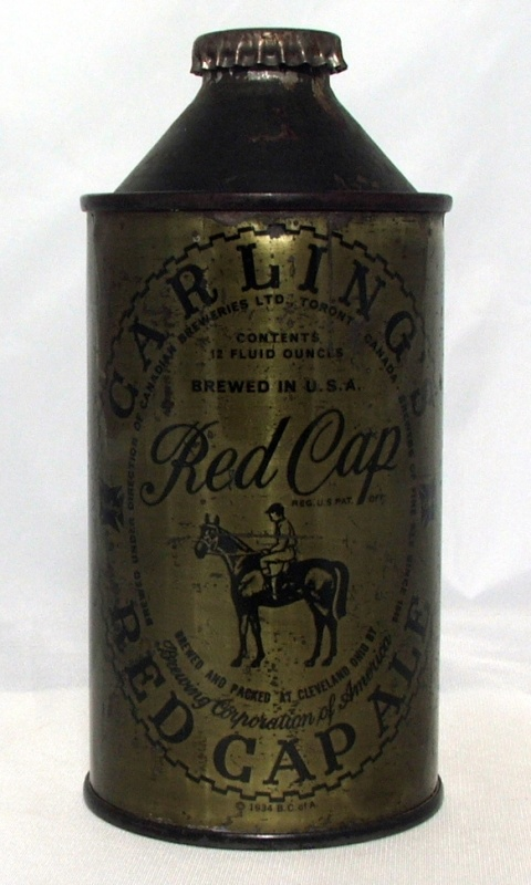 Image result for carling red cap ale bottle""